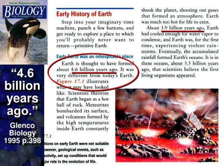 """4.6 billion years ago."""