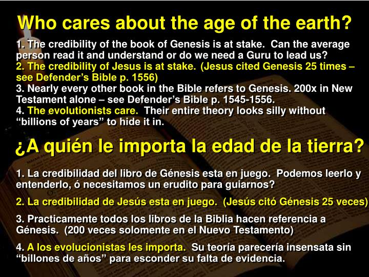 Who cares about the age of the earth?