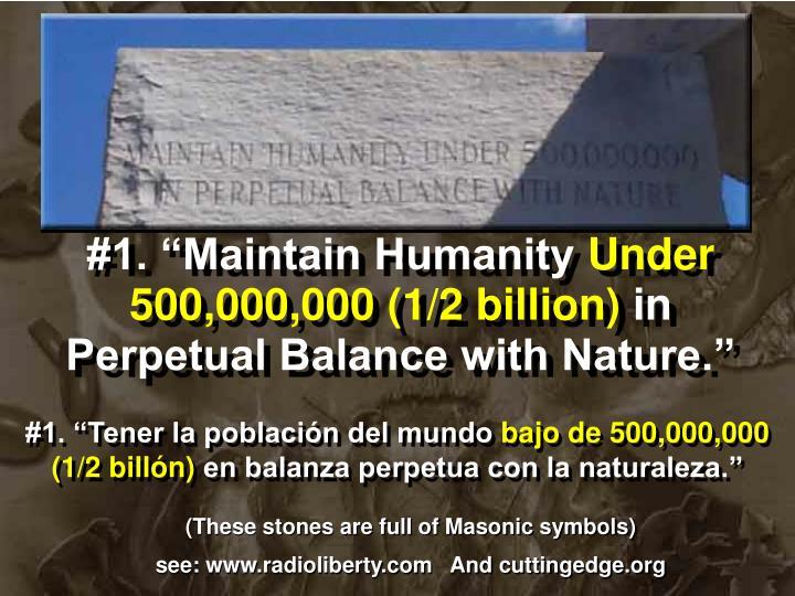 "#1. ""Maintain Humanity"