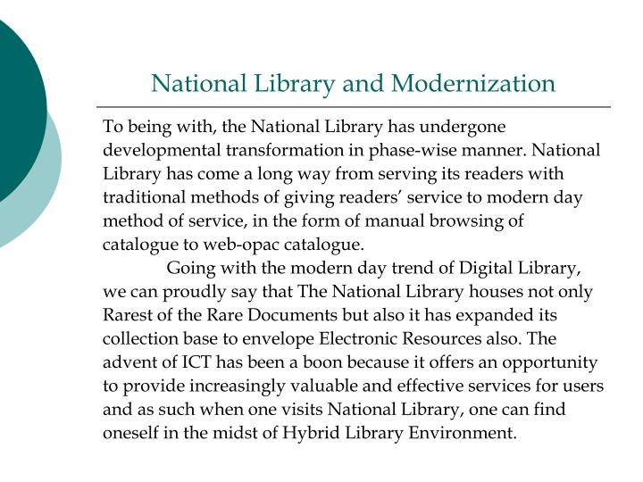 National Library and Modernization