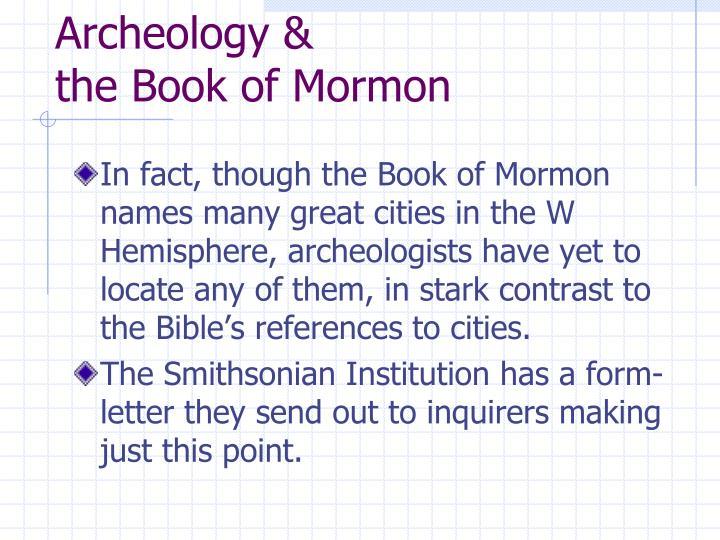 Archeology &