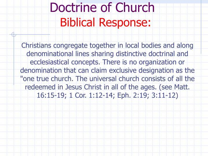 Doctrine of Church
