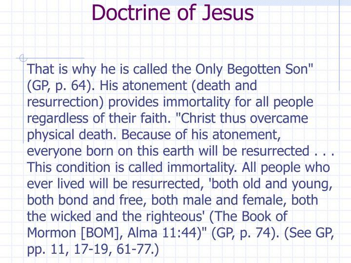 Doctrine of Jesus