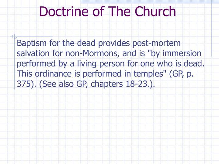 Doctrine of The Church