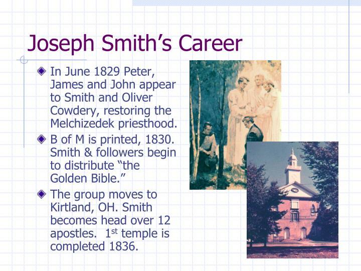 Joseph Smith's Career