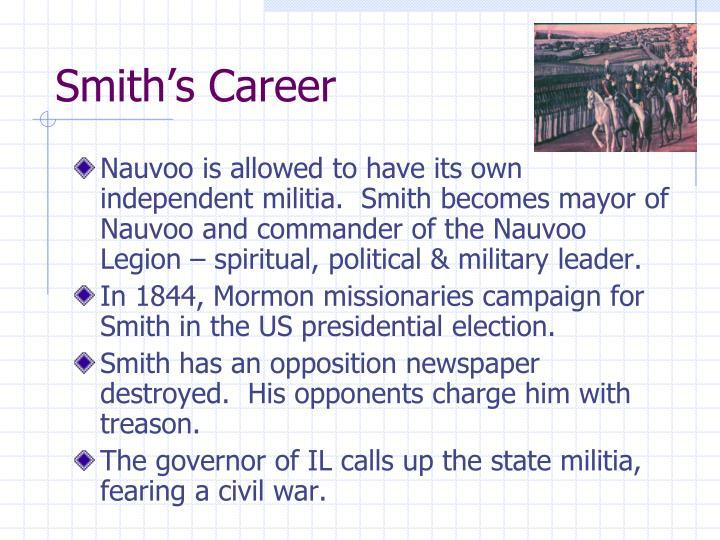 Smith's Career