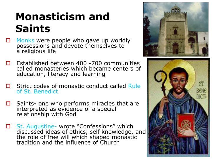 Monasticism and Saints