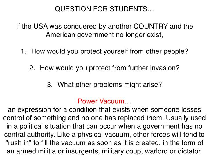 QUESTION FOR STUDENTS…