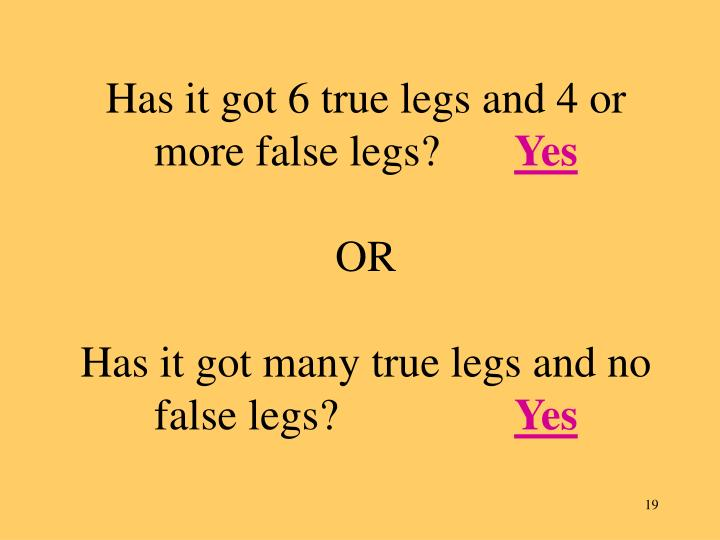 Has it got 6 true legs and 4 or more false legs?