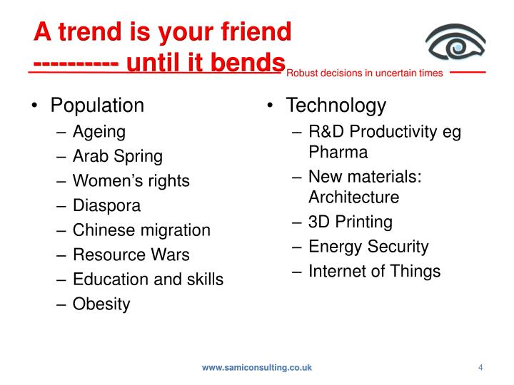A trend is your friend