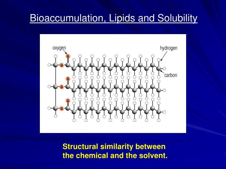 Bioaccumulation, Lipids and Solubility