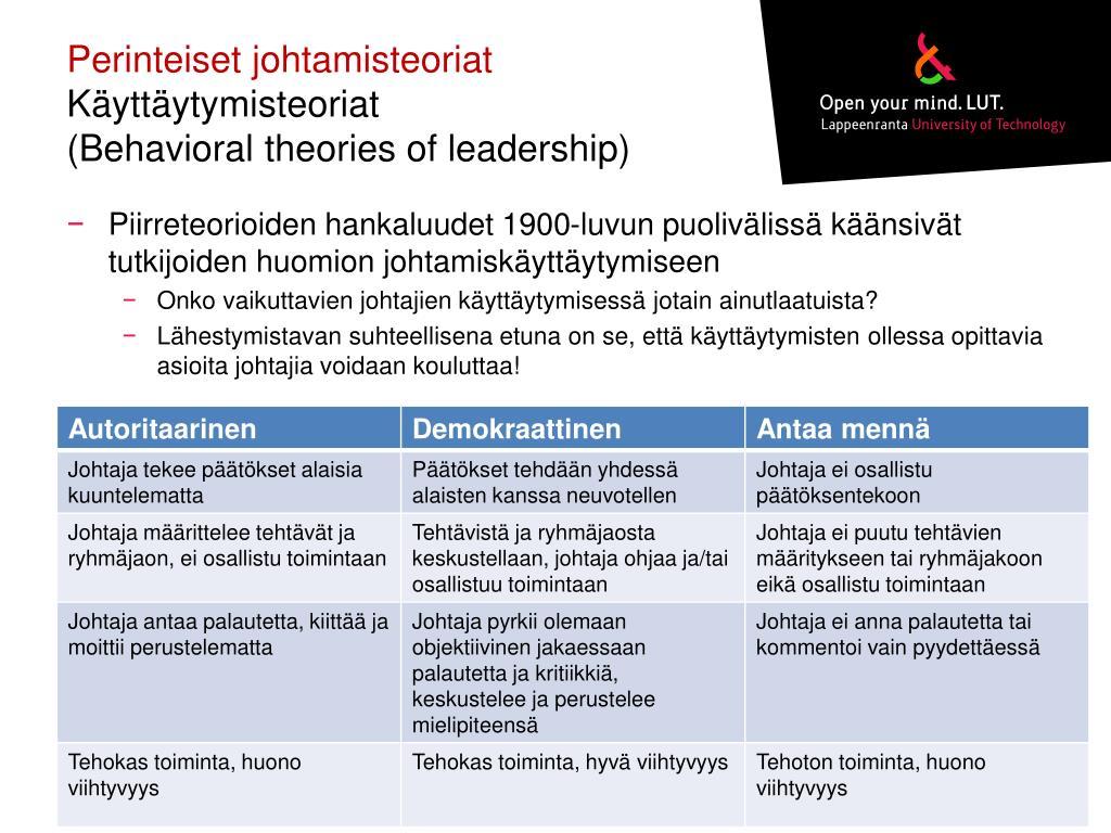 Johtamisteoriat
