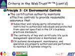 criteria in the webtrust sm tm cont d