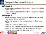 sample interviewed issues