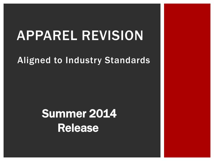 apparel revision n.