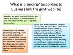 what is branding according to business link the govt website