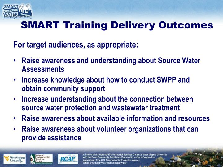 Smart training delivery outcomes1