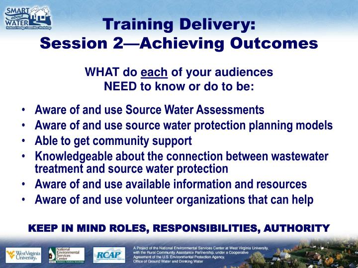 Training Delivery: