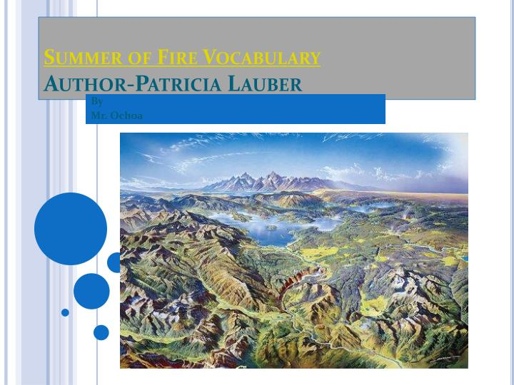 Summer of fire vocabulary author patricia lauber
