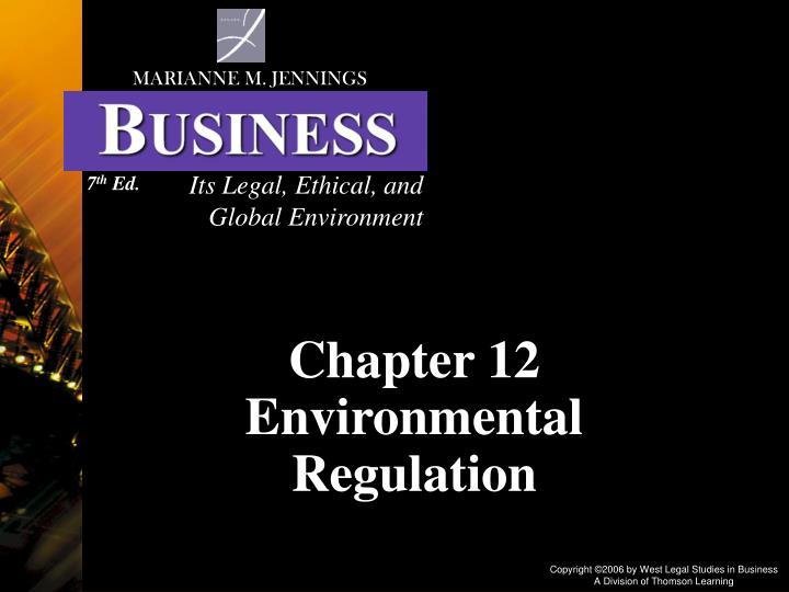global environmental regulation Regulatory reform is a priority for the business of chemistry, as our ability to innovate, hire and compete in a global market relies on having an effective and efficient regulatory system that does not create unreasonable burdens on industry.