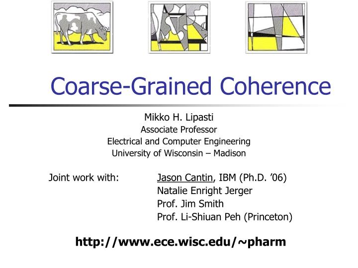 coarse grained coherence n.