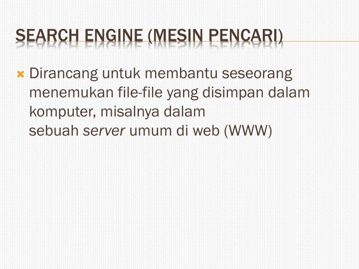 Search engine mesin pencari