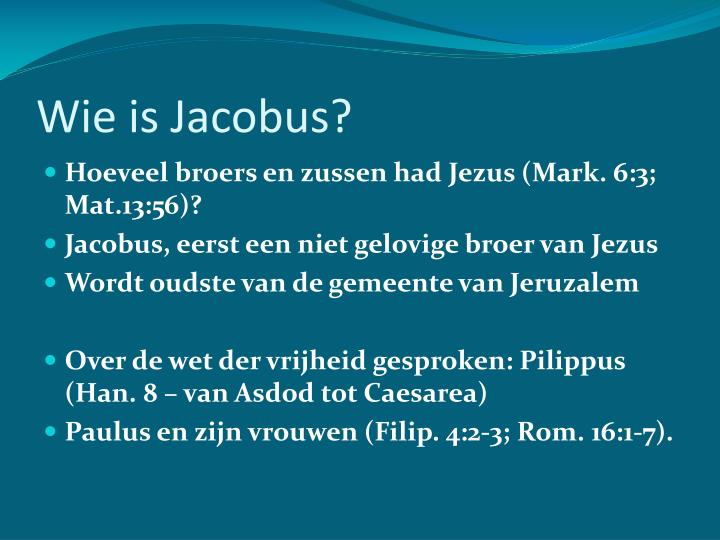 Wie is jacobus