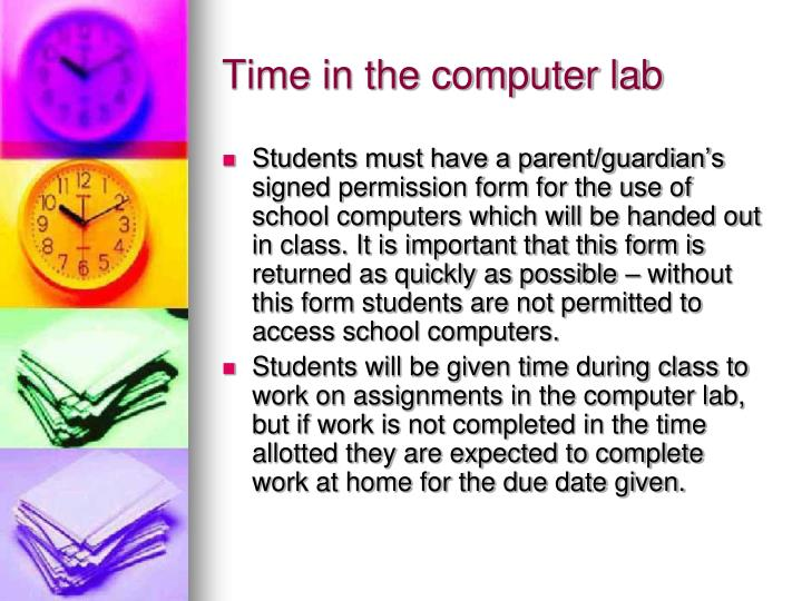 Time in the computer lab