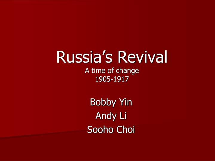 Russia's Revival