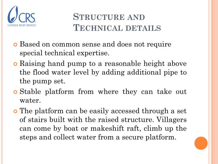 Structure and Technical details