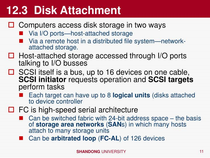 12.3  Disk Attachment