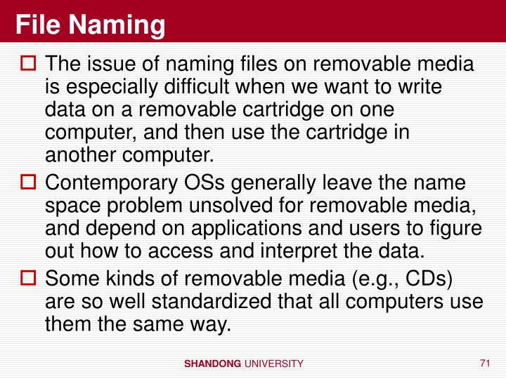 File Naming