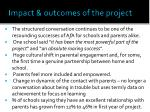 impact outcomes of the project1