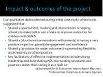impact outcomes of the project3