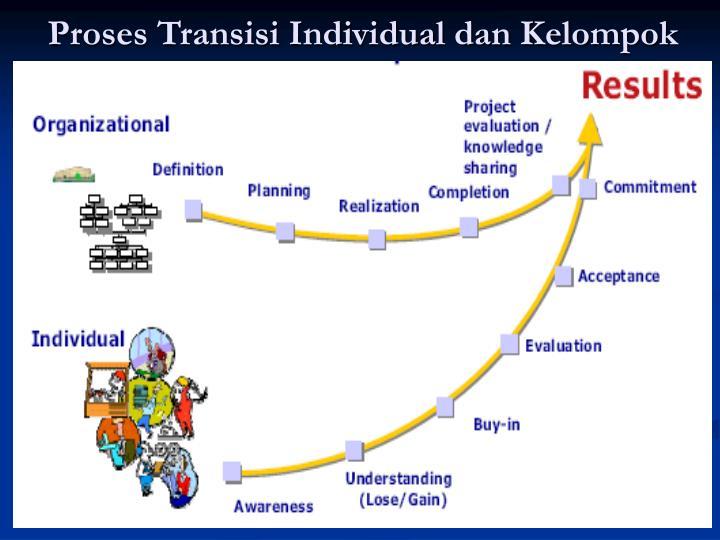 Proses Transisi Individual dan Kelompok