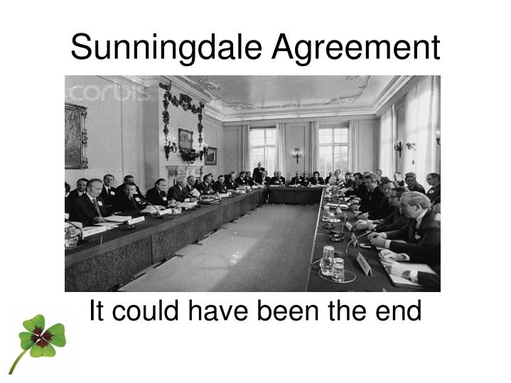 Ppt Sunningdale Agreement Powerpoint Presentation Id5365444