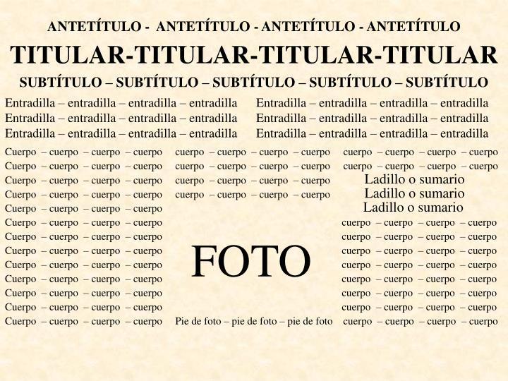 ANTETÍTULO -  ANTETÍTULO - ANTETÍTULO - ANTETÍTULO