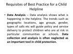 requisites of best practice for a child helpline4