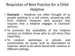requisites of best practice for a child helpline5
