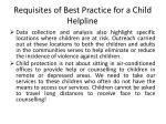 requisites of best practice for a child helpline6