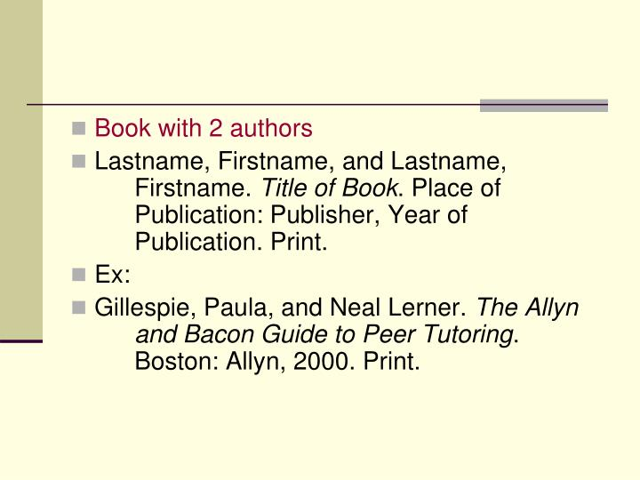 Book with 2 authors