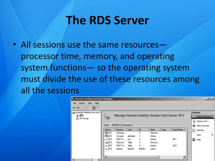 The RDS Server