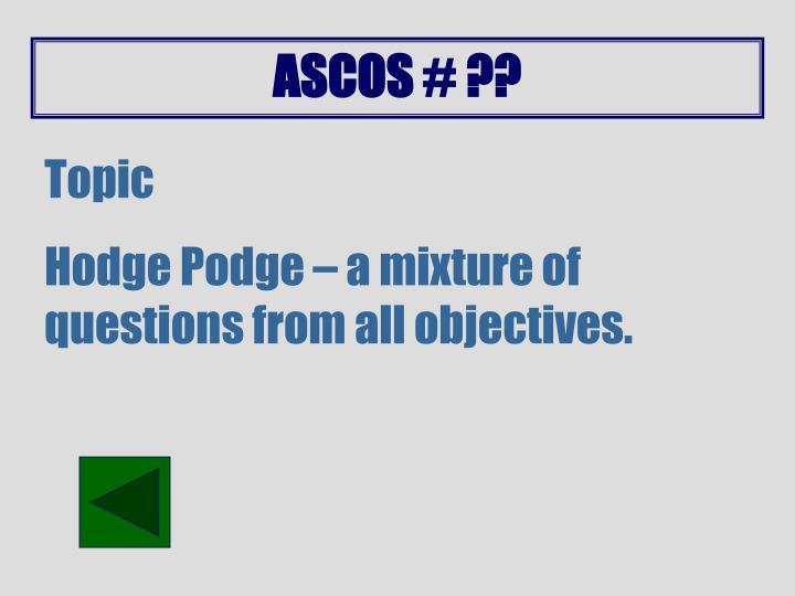 ASCOS # ??