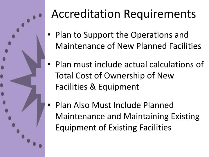 Accreditation requirements