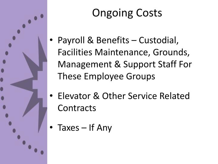 Ongoing Costs