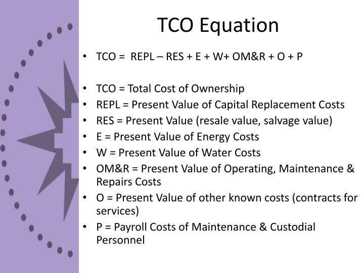TCO Equation
