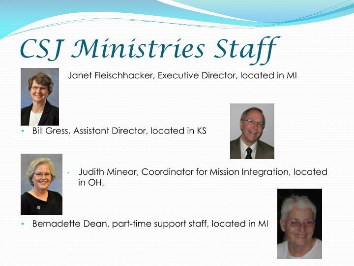 CSJ Ministries Staff