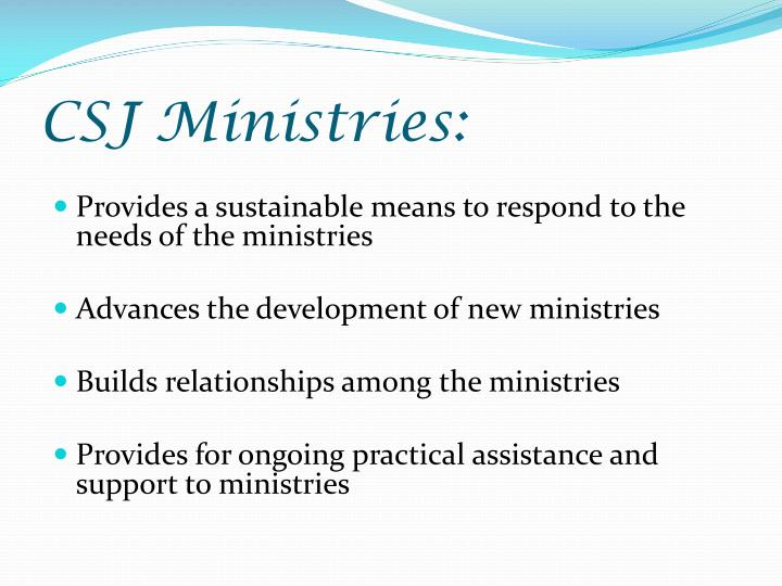 CSJ Ministries: