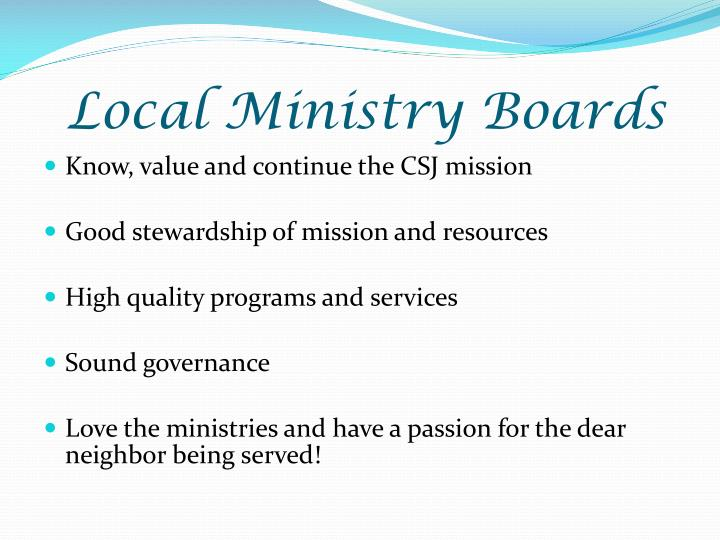 Local Ministry Boards