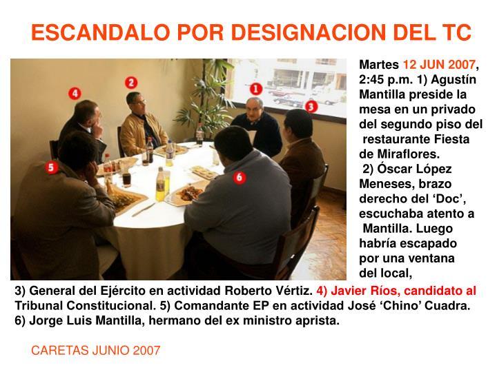 ESCANDALO POR DESIGNACION DEL TC